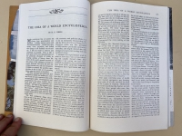 Wells World Encyclopedia in Harpers Magazine first page opening