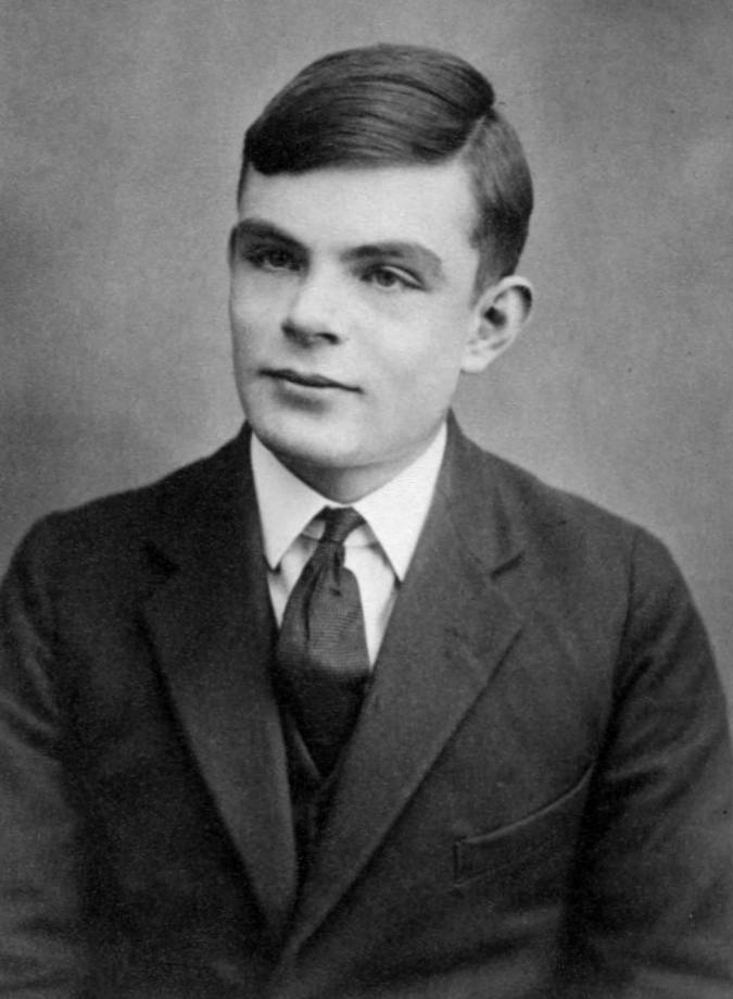 Alan Turing, aged 16. Turing published On Computable Numbers when he was 24 years old.