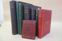 These are the variants of the cloth-bound catalogues of the Caxton Exhibition arranged in descending order by size; there were also versions issued in printed wrappers. The larger, thicker volumes in dark brown cloth are an extra large paper copy and a regular large paper copy; both versions of the large paper copies were issued on hand-made paper.