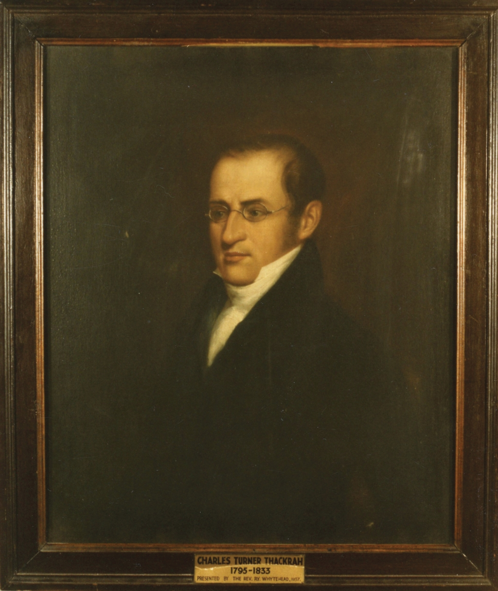 Charles Turner Thackrah (1795–1833), Founder of Leeds Medical School by C. Milnes, 1823, oil on canvas. ©The University of Leeds Art Collection.