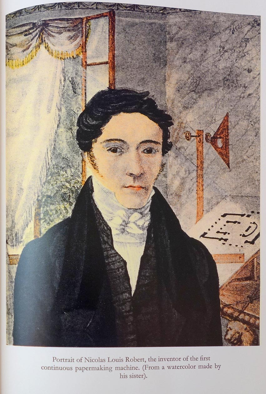 Portrait of Louis-Nicolas Robert, from a watercolor painted by his sister. Reproduced from Nicolas Louis Robert and his Endless Wire Papermaking Machine (2000).