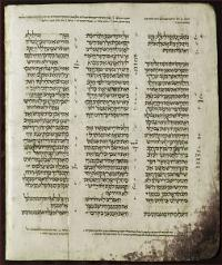 The Book of Judges, chapters 1:15 to 2:1, from the Aleppo Codex. (View Larger)