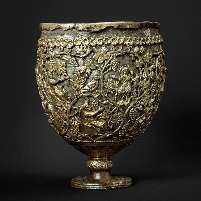 The Antioch Chalice, with which the bookcovers were found.