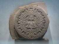 The Aztec Calendar Stone. (View Larger)