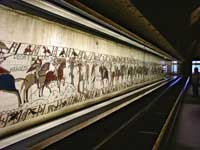 A view of one half of the gallery in which the Bayeux tapestry is preserved. (View Larger)