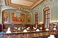 A reading room at the Library of the Sorbonne. (View Larger)