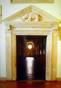 The entrance to the Biblioteca Malatestiana. (View Larger)
