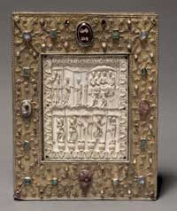 The front of the book-shaped reliquary. (View Larger)