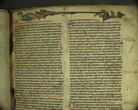 The incipit of HLS MS 1, Harvard Law School's copy of Bracton's De legibus et consuetudinibus Angliae, probably written around the year 1300. (View Larger)