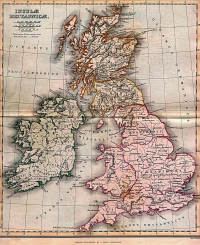 A map of Britannia from A Classical Atlas of Ancient Geography by Alexander G. Findlay. New York: Harper and Brothers 1849. (View Larger)