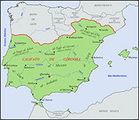 A map of the Caliphate of Cordoba circa 1000CE. (View Larger)