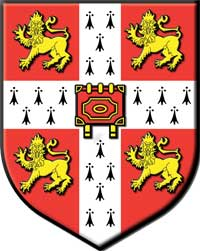 The coat of arms belonging to Cambridge University. (View Larger)