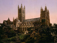 A photograph of the Canterbury Cathedral, within which resides the Library of Christ Church. (View Larger)