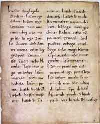 An example of the Carolingian minuscule, taken from the tenth century Freising manuscripts. (View Larger)