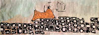 A  wallpainting, located in Catal Hoyuk, that might be the earliest landscape painting yet discovered, or a map. (View Larger)