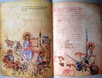 A depiction of David from the Chludov Psalter. (View Larger)