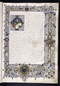 The first edition of St. Augustine's 'De Civitate Dei,' meaning City of God, is the oldest printed work for which the original manuscript remains. (View Larger)