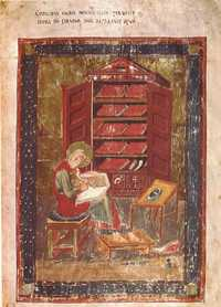 Folio 5r of Codex Amiatinus, showing Ezra. (View Larger)