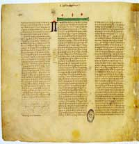 A page from the Codex Vaticanus. (View Larger)