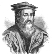 In 1545, Swiss zoologist and naturalist Conrad Gessner publishes the first 'universal bibliography,' cataloging about 12,000 titles in an attempt to control the 'labyrinth' of books and information which had arrisen since the invention of printing.  (View Larger)