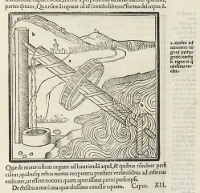 The first printed edition of 'De Architectura,' originally written by Roman architect Marcus Virtuvius Pollio, was printed in Venice in 1511 and contained 136 woodcut illustrations and diagrams.  (View Larger)