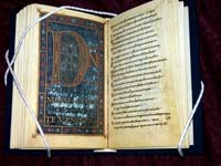 A facsimile of the Dagulf Psalter, also known as the Golden Psalter. (View Larger)