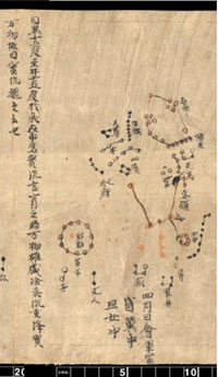 A depiction of a constellation from the Dunhuang Chinese Sky. (View Larger)