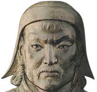 A bust of Genghis Khan. (View Larger)
