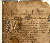 The opening leaf of the Hengwrt Chaucer. (View Larger)