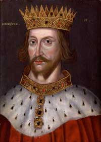 A 16th century portrait of King Henry II of England, by an unknown artist.