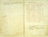 The manuscript of Marco Fabio Calvo's Hippocratic Collection, transcribed in his own had, was used in the preparation of his 1525 Latin printing of the work.  (View Larger)