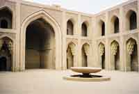 A modern photograph of a courtyard in the House of Wisdom, also known as the Bait al-Hikma. (View Larger)