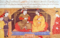 Hulagu Khan with his wife, Dokuz Kathun. (View Larger)