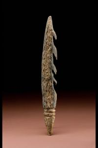 The Katanda Bone Harpoon Point. Photocredit: Smithsonian Institution.