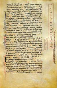 Folio 124r of the Codex magliabechiano, a manuscript of Liber Abaci preserved in the Biblioteca Nazionale di Firenze. (View Larger)