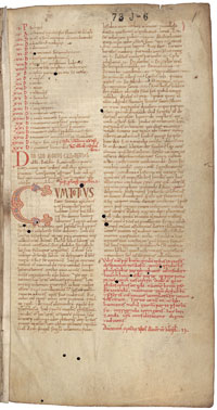 Folio 1r of the manuscript of Liber Pantegni preserved in the Koninklijke Bibliotheek. (View Larger)