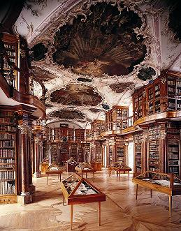 The library in the Abbey of St. Gall. (View Larger)
