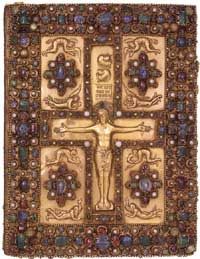 The upper cover of the Lindau Gospels. (View Larger)