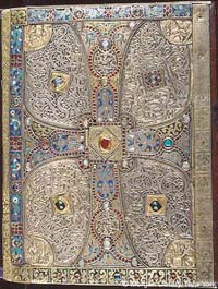 The ornate cover on the Lindau Gospels, located in the Pierpont Morgan Library. (View Larger)