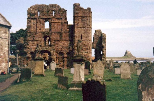 The ruins of Lindisfarne Abbey. (View Larger)