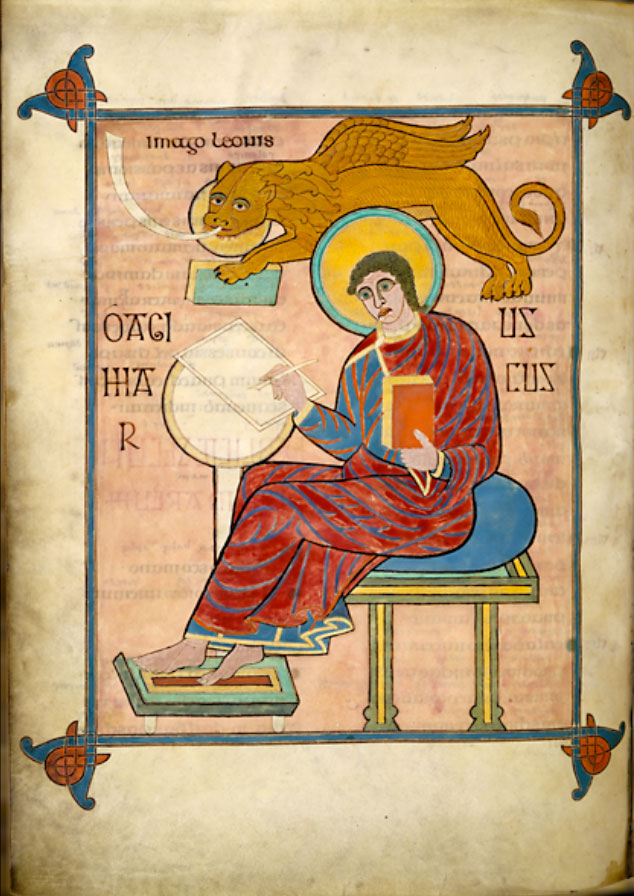 the earliest image of a scribe using a writing table (circa 715