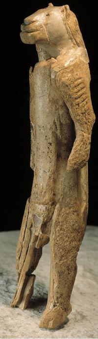 The 'Lion Man,' preserved in the Ulmer Museum in Ulm, Germany. (View a full-scale image.)