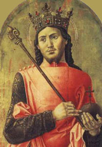 A portrait of Louis IX.