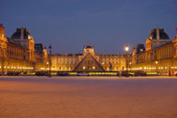 The courtyard of the Louvre, present day. (View Larger)