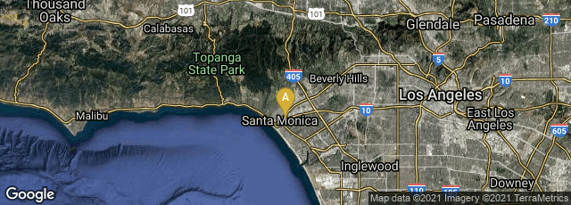 Detail map of Santa Monica, California, United States