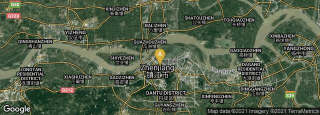Detail map of Runzhou Qu, Zhenjiang Shi, Jiangsu Sheng, China
