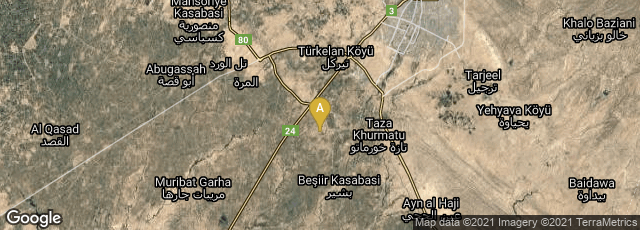 Detail map of Kirkuk Governorate, Iraq