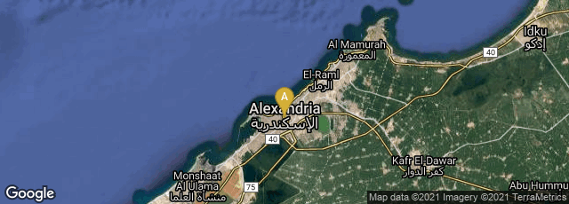 Detail map of Alexandria Governorate, Egypt