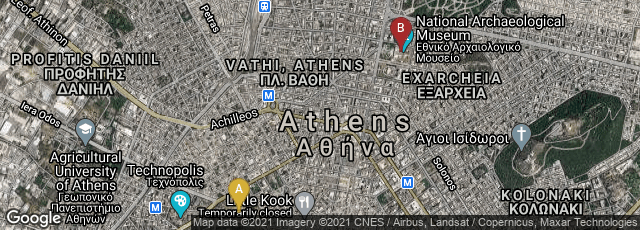 Detail map of Athina, Greece,Athina, Greece