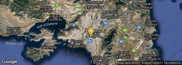 Detail map of Athina, Greece